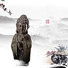 Chinese Retro Imitation Weathered Wood Buddha Ornaments Home Accessories Zen Crafts Living Room Porch Buddha Head Furnishings