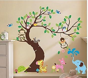 Wandaufkleber Kinderzimmer Wandtattoo Wandaufkleber Dschungel Wald
