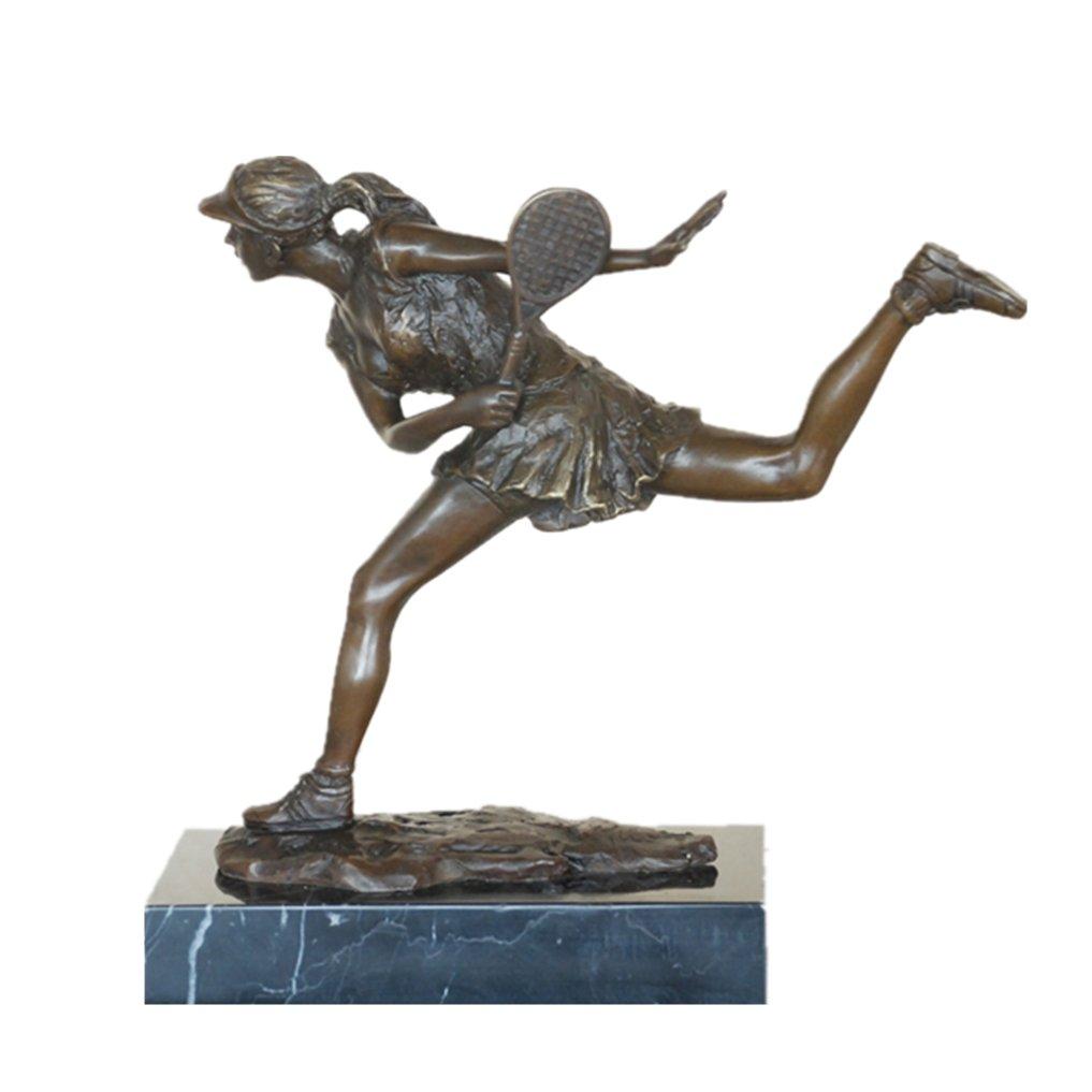 : Toperkin Tennis Player Bronze Statue and