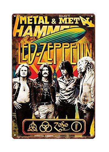 WholesaleSarong Led Zeppelin Rock Band Metal tin Sign Restaurant Pub Nice Home Decor