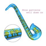 """DECORA 27.5"""" Inflatable Saxophone Assorted Colors"""