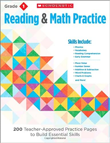 Book Reading and Math Practice: Grade 1: 200 Teacher-Approved Practice Pages to Build Essential Skills (Reading & Math Practice)