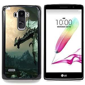 "Antiguo Flying Dragon"" - Metal de aluminio y de plástico duro Caja del teléfono - Negro - LG G4 Stylus / G Stylo / LS770 H635 H630D H631 MS631 H635 H540 H630D H542"