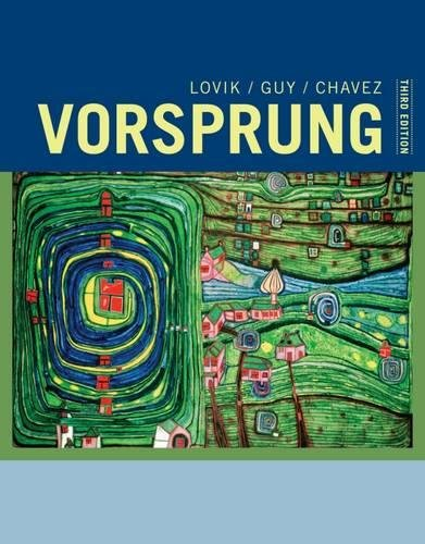 1133607357 - Vorsprung: A Communicative Introduction to German Language and Culture (World Languages)