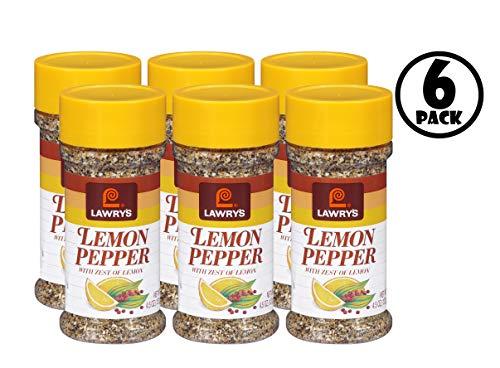 (6 Pack) Lawry's Lemon Pepper Blend, 4.5 oz