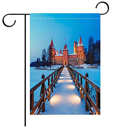 BEICICI Custom Personalized Garden Flag Outdoor Flag Trakai Historic City and Lake Resort in Lithuania Best for Party Yard and Home Outdoor Decor