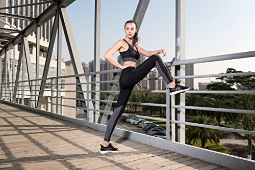 Yoga Womens Strechy Pantaloni Wicking Leggings Vita Black Corsa Da Alta 01 Sports Fitness ww6YrT