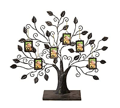 Your Hearts Delight Family Tree with 6 Frame Ornaments, 23 by 19-Inch