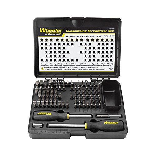 Wheeler 89-Piece Deluxe Gunsmithing Screwdriver Set, Black/Yellow (Deluxe Hollow Handle)