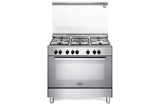 De Longhi DEMX96ED - Cucina a gas con forno elettrico, 5 Fuochi ...
