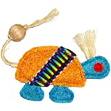 Eco-Loofah Ethnic Maka Tenuki Chief Turtle Cat Toy, Orange
