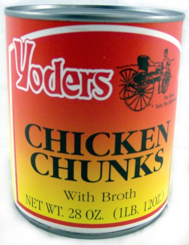 Yoders Fully Cooked Canned Chicken Chunks, 28 oz (Canned Sandwich)