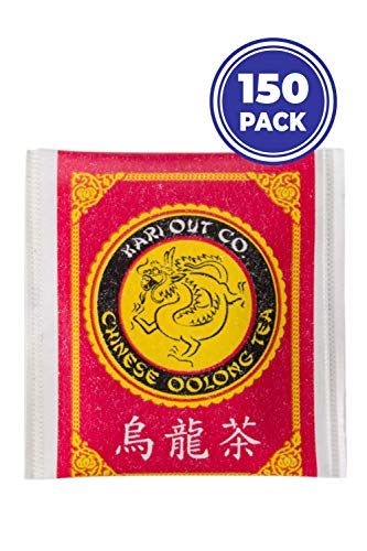 NEW! Original Kari-Out Premium Chinese Oolong Tea Bags,150-Pack. Caffeinated, Semi-Fermented and Served at the Best Chinese, Sushi and Japanese Restaurants. Packed by NVM Trading.