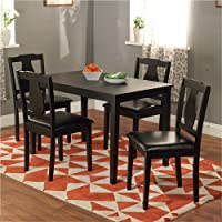 Deals on Simple Living Black 5-piece Kaylee Dining Set