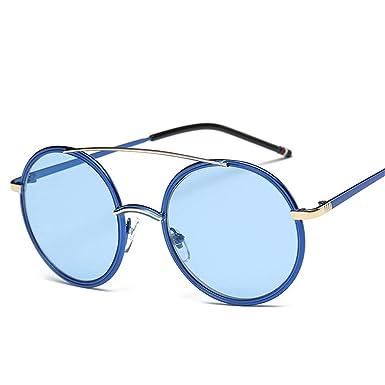 SK&2SOK Gafas Sol,Moda Gafas De Sol Redondas Con Montura ...