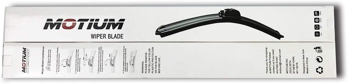 26+16 MOTIUM OEM Quality All Season Beam Windshield Wiper Blades set of 2