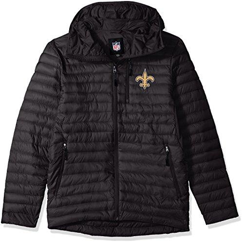 G-III Sports NFL New Orleans Saints Equator Quilted Jacket, Large, Black (G-iii Jacket Mens)