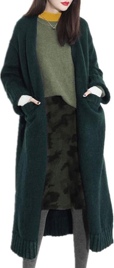 Fanessy Femme Manteau en Tricot Cardigan en Maille Pull