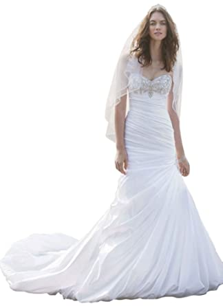 David\'s Bridal Sample: Strapless Sweetheart Trumpet Wedding Gown ...