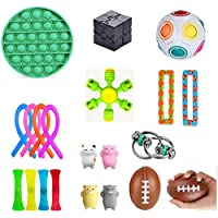 21 Pack Fidget Sensory Toy Set Stress Relief Toys ADHD Autism Anxiety Relief Stress Pop Bubble Fidget Toys For Kids…