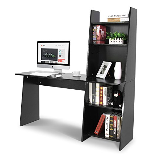 "Tribesigns Computer Desk with Shelf, 59"" Wooden Writing Desk"