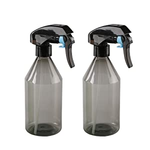 10 Oz Plastic Empty Spray Bottle | Super Fine Mist Trigger Sprayer, Refillable Spray Container - for Cleaning Solutions, Plants, Hair - BPA Free (2 Pack, 300ml, Gray)