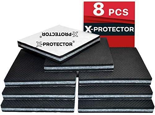 Almohadillas antideslizantes para muebles X-Protector - 8 almohadillas de 10 cm Tapones autoadhesivos de goma para patas de muebles protectores de suelo ...