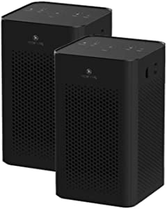 Medify MA-25 (Blk 2) Medical Grade Filtration H13 True HEPA for 500 Sq. Ft. Air Purifier   Dual Air Intake   Two '3-in-1' Filters   99.97% Removal in a Modern Design (2-Pack, Black)