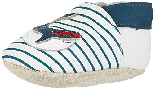 Rose & Chocolat Cool Whale - Botas de senderismo Bebé-Niñas Blau (navy Stripes)