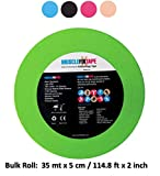 Green Kinesiology Tape Uncut Roll - Bulk Jumbo Clinical Size Recovery Sports Athletic Injury Therapeutic Support PRO Physio Therapy (35 mt x 5 cm / 114.8 ft x 2 in) kt Rock-Tapes rocktapes
