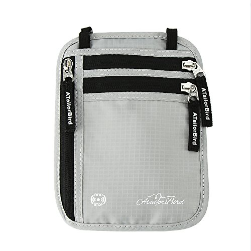 Travel Neck Pouch with RFID Blocking/Anti-theft...