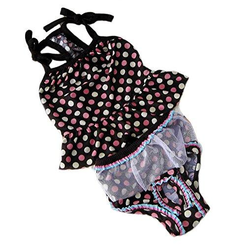 Chihuahua Costume Swimming (Oasis Plus Pet Dog Puppy Polk Dot Summer Bikini Set Swimming Suit Dress Bathing Clothes Costume)
