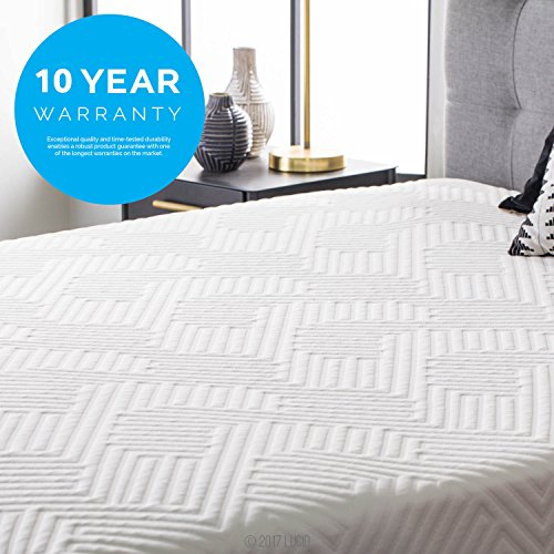 lucid 12 inch full hybrid mattress bamboo charcoal and aloe vera infused memory foam motion. Black Bedroom Furniture Sets. Home Design Ideas