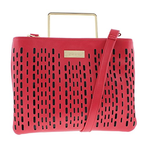bebe-womens-marisa-faux-leather-perforated-crossbody-handbag-red-small