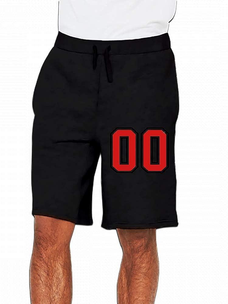 JiJingHeWang 00 Sports Jersey Football Number Zero Mens Casual Short Trouser