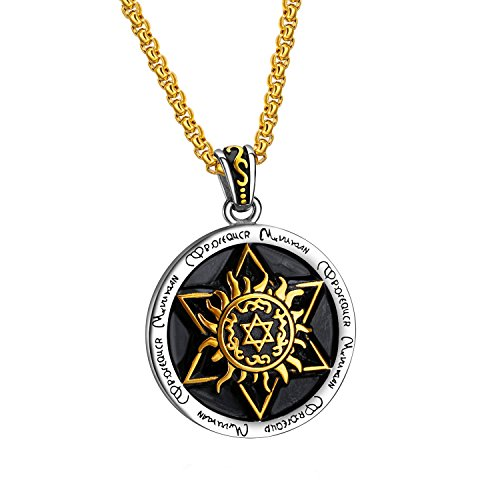 316L Stainless Steel Mens Ancient Egyptian Mars Horus Pendant Chain Necklaces with Free Chain - Hours Fair Fashion Store