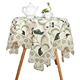 Bettery Home Embroidered Lace Tablecloth Double-Layered Fabric Tablecloths for Dinner Kitchen Party Wedding 55 x 78 Inch