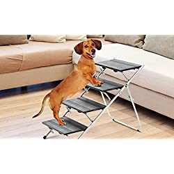Tristar metal convertible pet steps and ramp stairs portable ladder 4 STEPS
