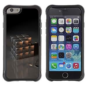 LASTONE PHONE CASE / Suave Silicona Caso Carcasa de Caucho Funda para Apple Iphone 6 PLUS 5.5 / Metal Cube