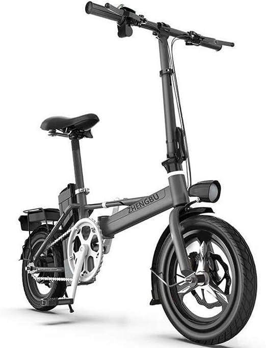 ZBB Bicicleta eléctrica Ligera y Plegable, Motor de tracción ...