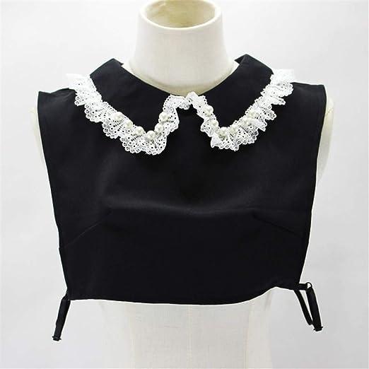 Neckchiefs Blusas de Mujer Falso Cuello Media Camisa Desmontable Falso Collar (Color : Negro): Amazon.es: Jardín