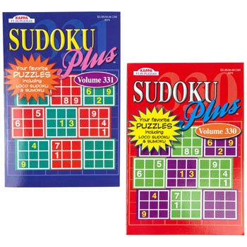 DollarItemDirect Puzzle Book Sudoku 2 Assorted in Floor Display PPD 3.95, Case of 144 by DollarItemDirect