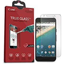 iCarez [Tempered Glass] Screen Protector for LG Google Nexus 5X with Lifetime Replacement Warranty - Easy Install [1-Pack 9H 0.3MM 2.5D] Retail Packaging