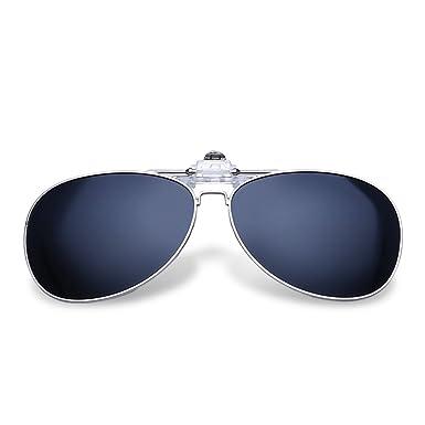 e017c05debf4a0 ZWX Miroir conducteur Vision nocturne polarisé verres Clip lunettes Lunettes  myopie Lunettes