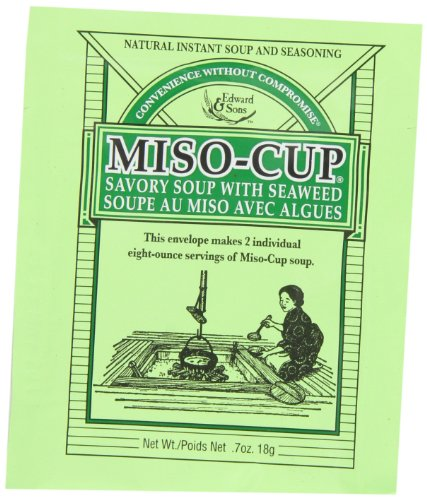 Miso-Cup Soup with Seaweed, 2-Serving Envelopes (Pack of 24)