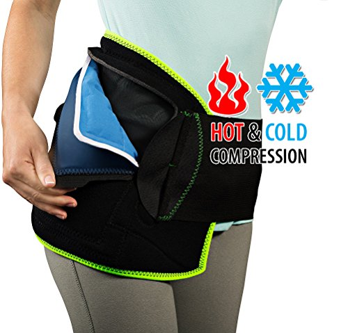 NatraCure (Hot or Cold) Hip and Back Pain Relief Wrap - (Large/X-Large) - (for Relief from Stiff Hips & Back, Inflammation, and Hip Surgery & - Support Back Elasto