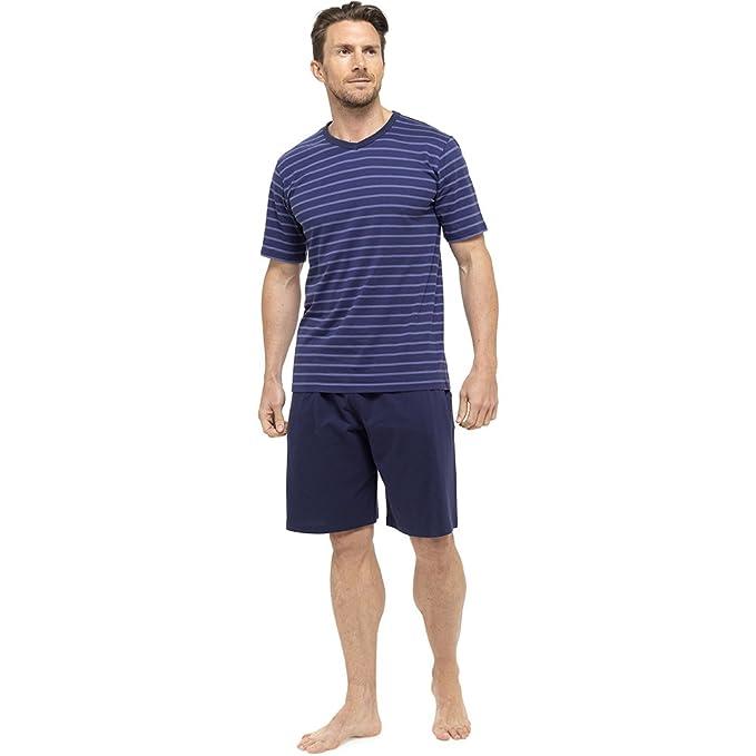 Tom Franks Hombre Algod/ón De Rayas Jersey Camiseta /& Pijama corto