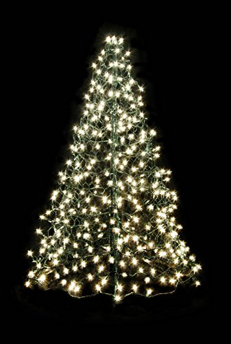 Fisherman Creations 4 ft. Artificial Christmas Tree- Folds Flat with Incandescent Clear Lights by Crab Pot Trees