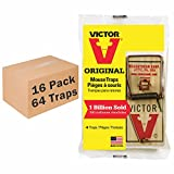Victor M156 Metal Pedal Mouse Trap – 16 Pack (64 Total Traps)