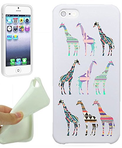 Aztec Giraffe Tribal Hipster Love Animal Cool Funny Girls Teens IPhone 5 / iPhone 5S Case Cover By NickyPrints. UNIQUE Designer Gloss Candy TPU Flexible Slim Case for iPhone 5 5S - Hipster Candy
